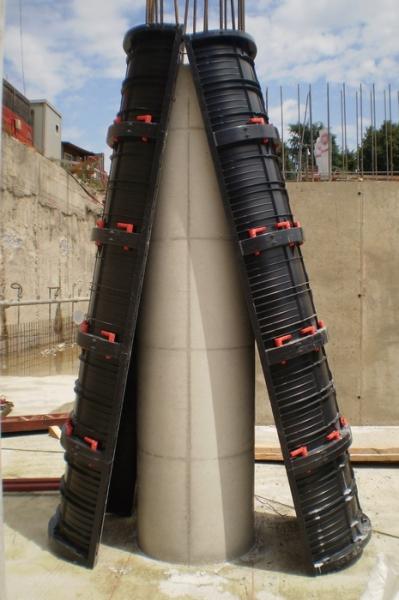 круглые колонны Geotub